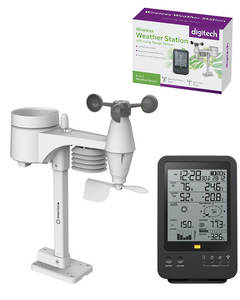 XC0432 DIGITECH Wireless Digital B/W Weather Station