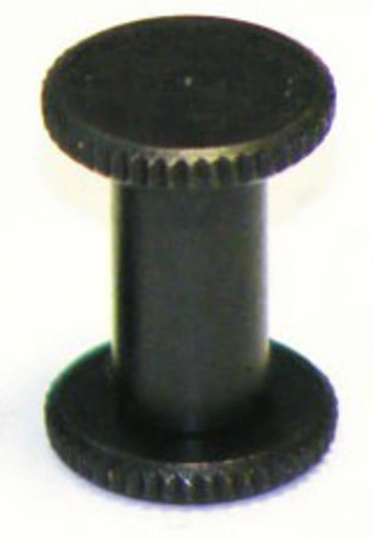 8mm long Black Knurled Interscrew