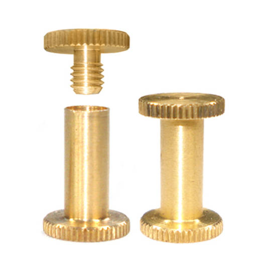 12mm long Brass Knurled Interscrew