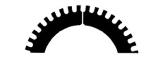 Stahl Perforator 46.0 x 30.0 x 0.5mm 40T