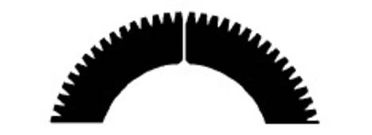 Stahl Perforator 48.0 x 30.0 x 0.5mm 72T