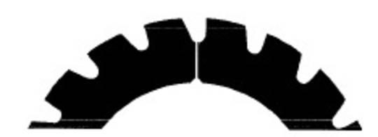 Stahl Perforator 62.0 x 40.0 x 0.5mm 18T Reverse