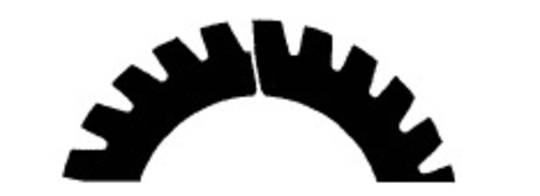 Stahl Perforator 48.0 x 30.0 x 0.5mm 24T