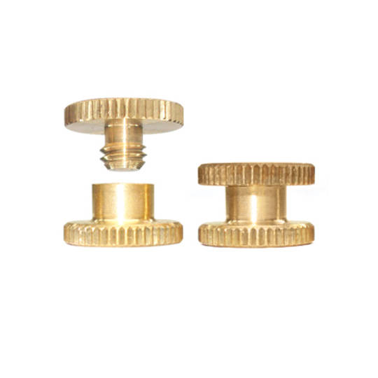 3mm long Brass Knurled Interscrew