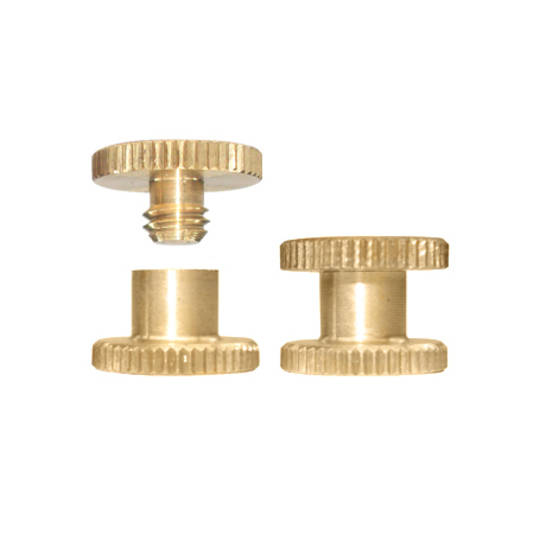4mm long Brass Knurled Interscrew