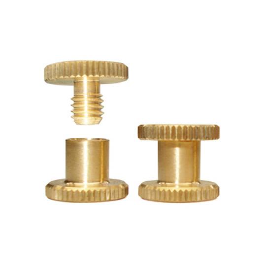 5mm long Brass Knurled Interscrew
