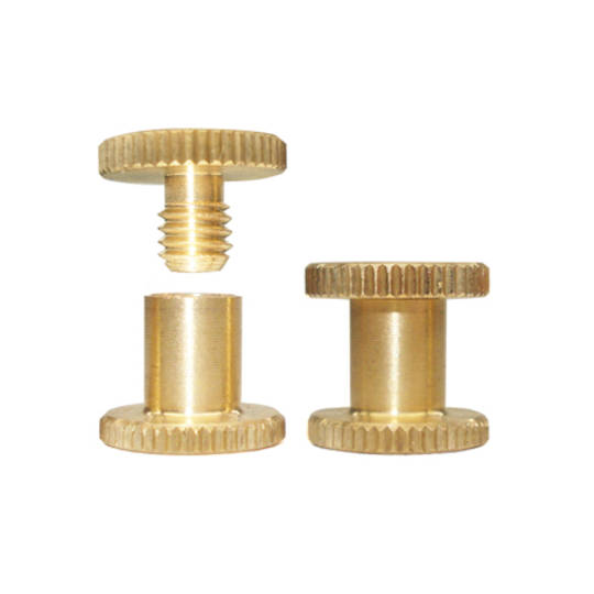 6mm long Brass Knurled Interscrew