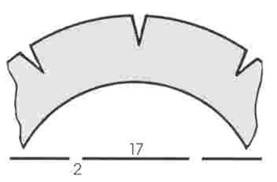 Stahl Perforator 61.5 x 40.0 x 0.5mm 10T