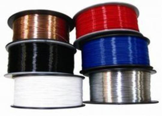 0.55 Dia Round Wire WHITE 2kg Roll