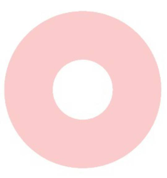 Flat Suction Disc 38.1 x 9.5 x 0.8mm Pink Rubber