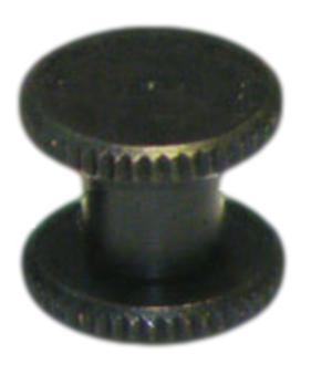 4mm long Black Knurled Interscrew
