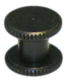 2mm long Black Knurled Interscrew