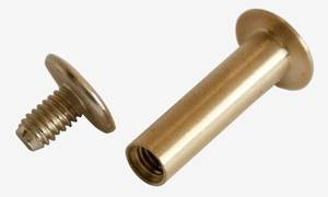 10mm long Brass Dome Interscrew