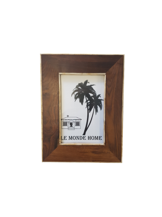 *WOOD FRAME RESIN BORDER INSIDE/OUTSIDE 10X15CM - MIN 2