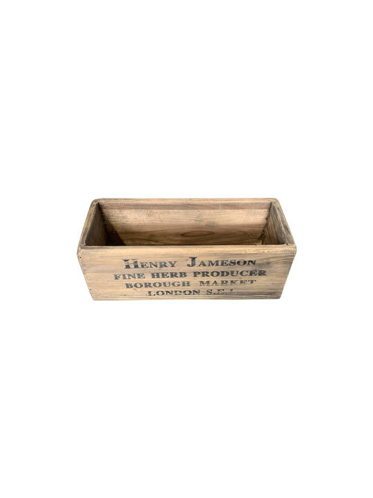 HENRY JAMESON WOODEN TROUGH