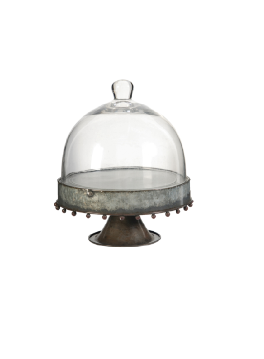 KNOX PEDESTAL PLATE WITH GLASS DOME