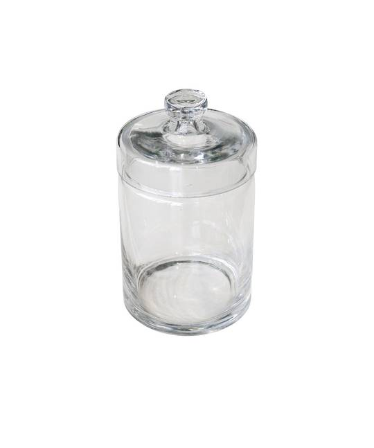 CONDIMENT GLASS HOLDER WITH LID MED