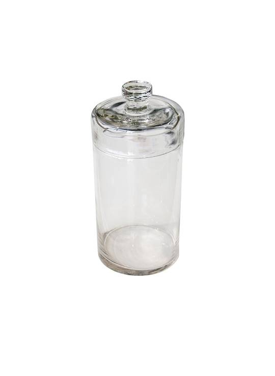 CONDIMENT GLASS HOLDER WITH LID LGE