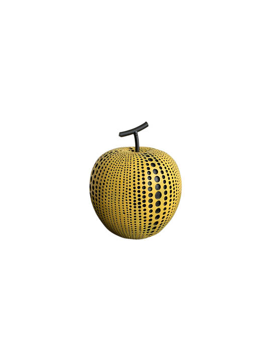 DECORATIVE APPLE W/ DOTS LARGE