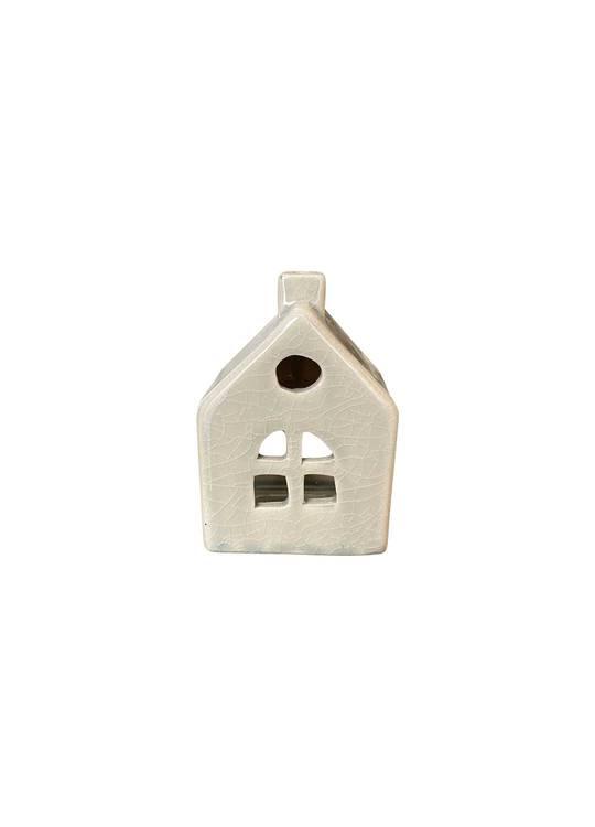 HOUSE WITH CROSS WINDOW TEALIGHT HOLDER SML
