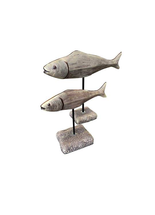 SET/2 FISH ON STAND