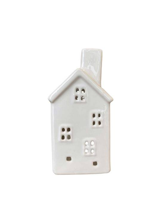 HOUSE WITH 4 WINDOWS TEALIGHT HOLDER