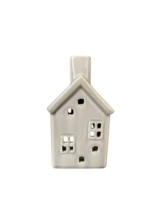 HOUSE WITH 2 WINDOWS TEALIGHT HOLDER
