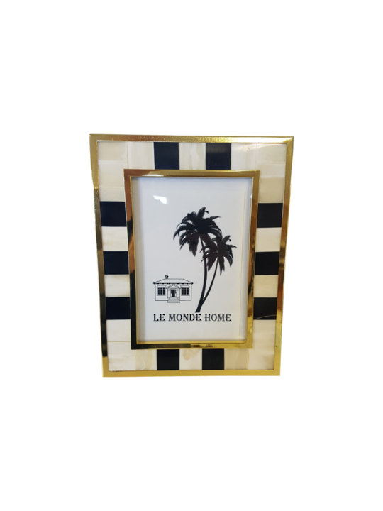 LUXE STRIPED PHOTO FRAME LGE