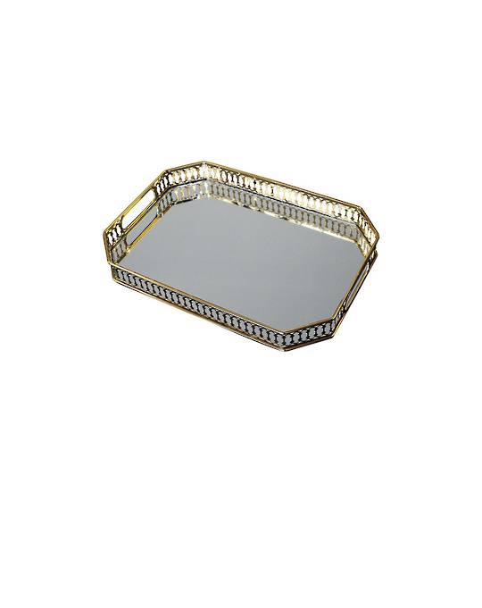 LUXE DECORATIVE RECTANGULAR TRAY WITH HANDLES