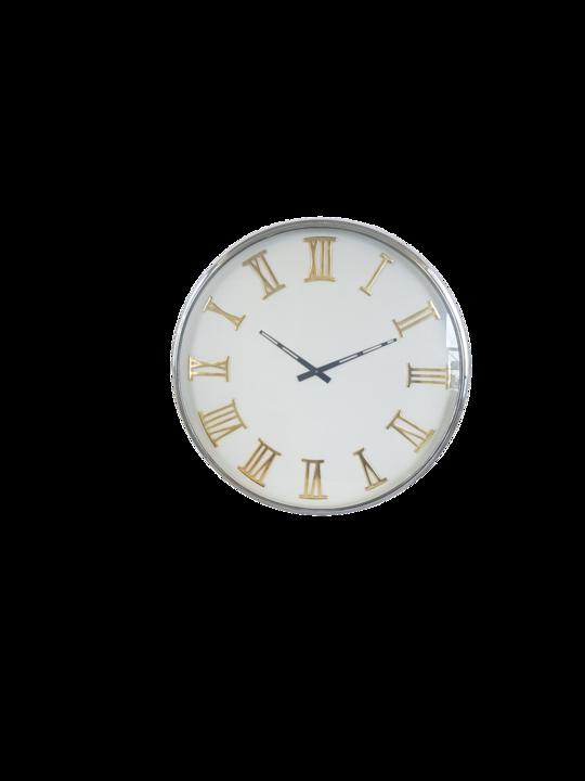 STEEL/ALUM WALL CLOCK ROMAN NUMERIALS