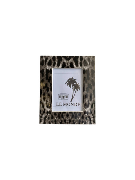 PHOTO FRAME W/ LEOPARD PATTERN