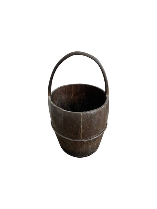 ANTIQUE BUCKET WITH CARRIER HANDLE
