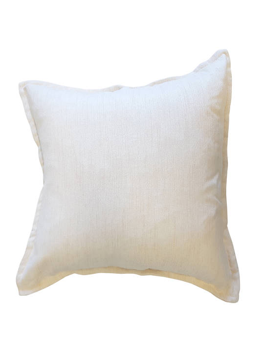 CUSHION COVER PLAIN CREAM DOUBLE SIDED WITH A 2CM FLANGE