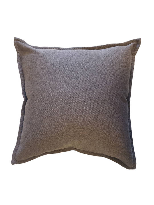 CUSHION COVER TEXTURED BROWN WEAVEDOUBLE SIDED WITH A 2CM FLANGE