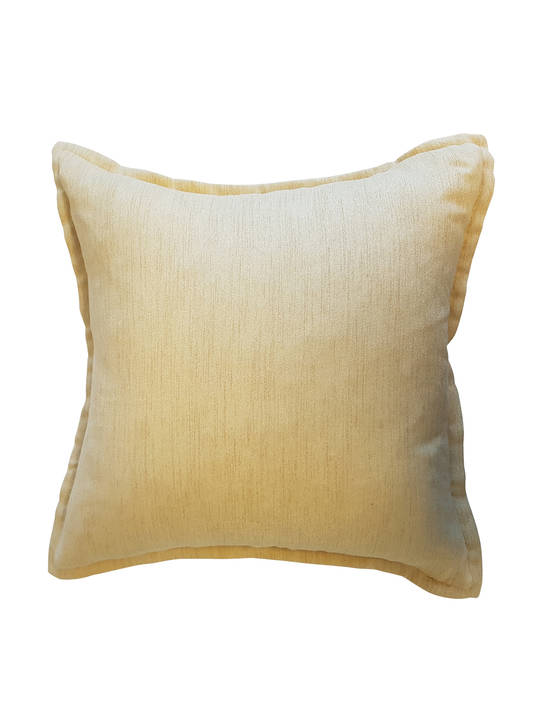 CUSHION COVER PLAIN MUSTARD YELLOW DOUBLE SIDED WITH A 2CM FLANGE