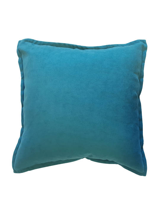 CUSHION COVER PLAIN EMRALD GREENDOUBLE SIDED WITH A 2CM FLANGE
