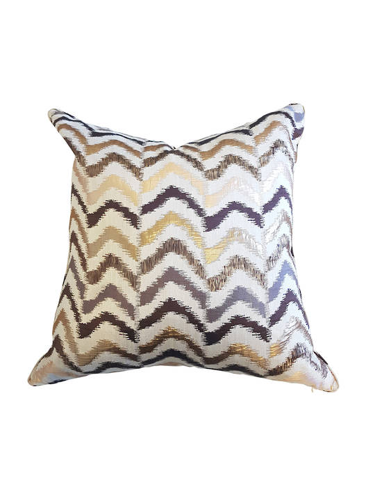 CUSHION COVER WAVE DESIGN DOUBLE SIDED WITH SELF PIPING