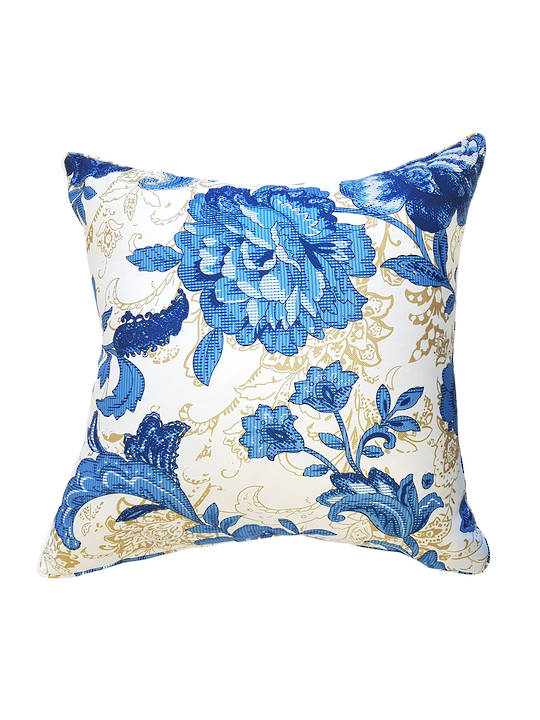 CUSHION COVER FLORAL DESIGN DOUBLE SIDED DIGITAL PRINTED WITH SELF PIPING