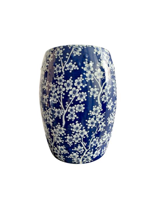 BLOSSOM STOOL BLUE & WHITE