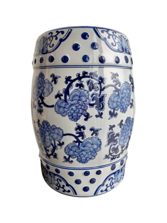 CLASSIC CHINESE STOOL BLUE & WHITE