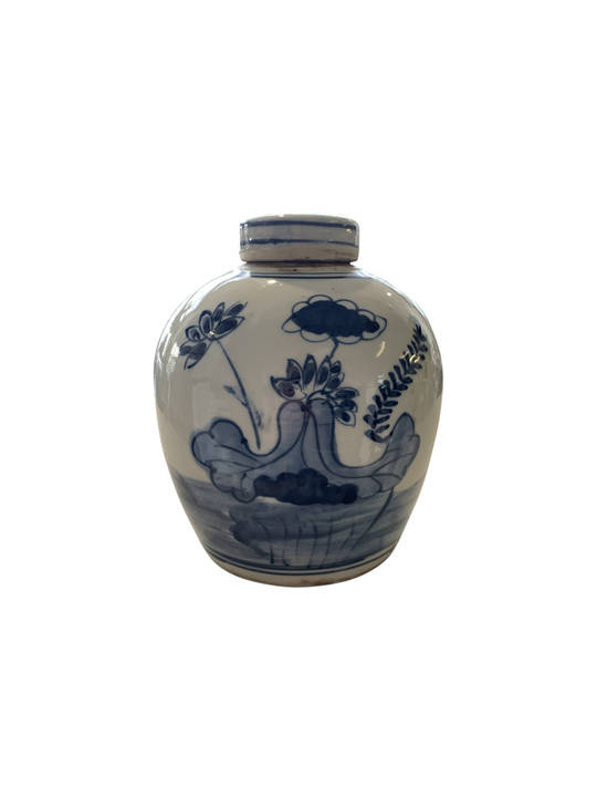 SMALL POT WITH BOY AND FISH DANCING