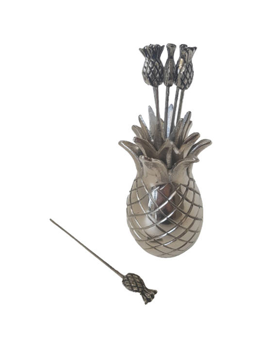 PINEAPPLE COCKTAIL PICKS STAINLESS AND ALUMINIUM