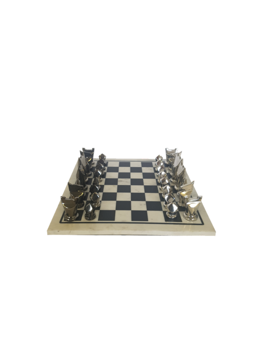 MARBLE/ALUM CHESS SET