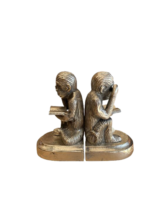 MONKEY READING BOOKENDS SET2
