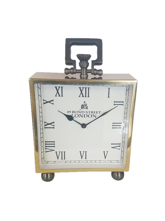 ALUM/STEEL LONDON TABLE CLOCK