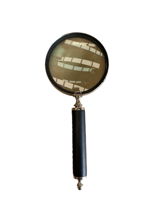 LARGE LEATHER HANDLE MAGNIFIER