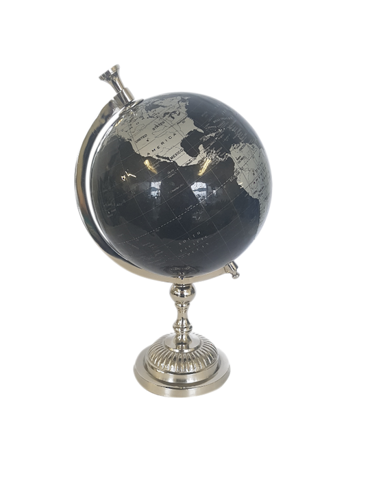 LAMINATED PAPER GLOBE ON ALUM STAND