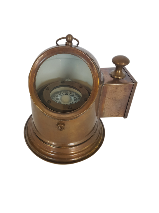 BRASS BINNACLE COMPASS