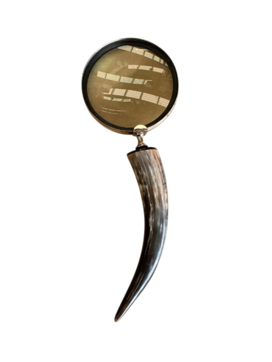 LARGE HORN HANDLE MAGNIFIER