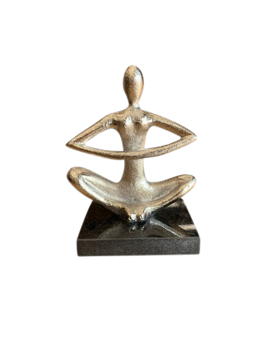 EASY SITTING YOGA POSE STATUE